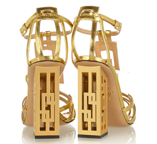 Geometric-cutout-metallic-leather-sandals-Charlotte-Olympia