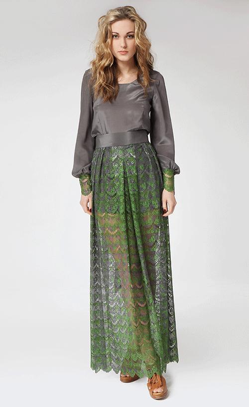 Jelena-Klakina-green-&-grey-lace-dress