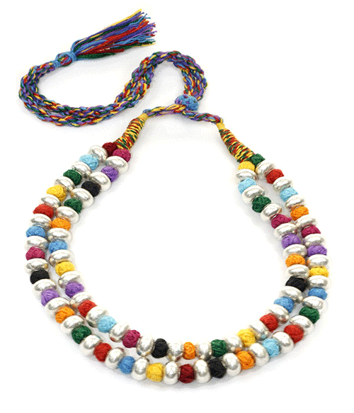 Londali-Jaipur_thread_silver_double_necklace_in_multicolour