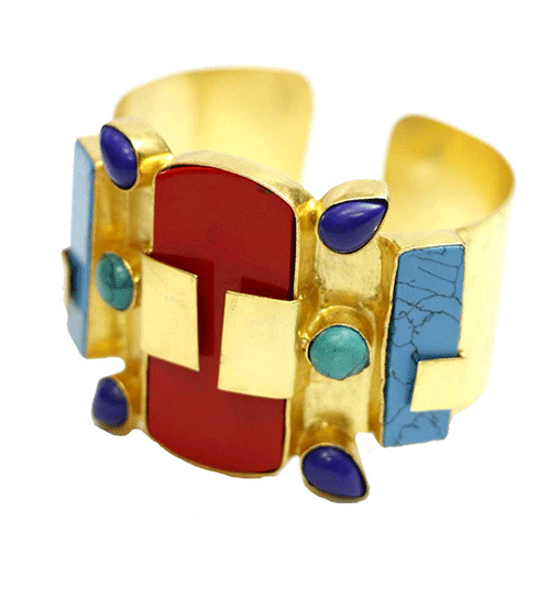 Londali-ethnic-gold-plated-colouful-agate-stone-bracelet