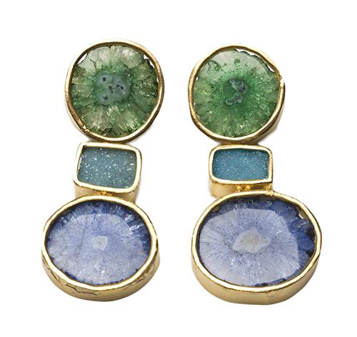 Londali-india-green-blue-agate-earring