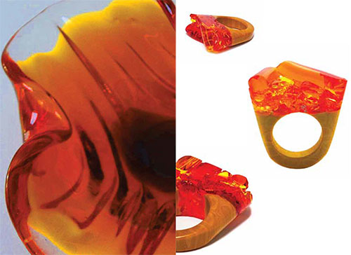 Pasionae-Murano-glass-ring-orange