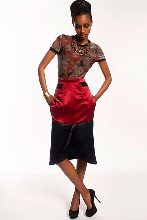 Tina-Loboni-red-and-black-skirt